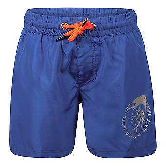 Pantalones cortos azules de ropa de playa para niños diésel j00183-0bcay/k89g