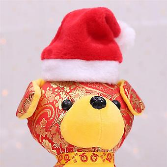 Small Plush Santa Hat For Pet Dog Cat Doll