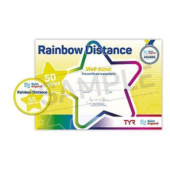 ASA zwemmen Engeland Rainbow afstand zwemmen Award - 50M