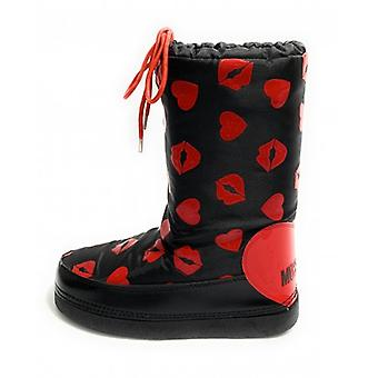 Damskie buty skiboot love Moschino Snow Boot Black/ Red D20mo10
