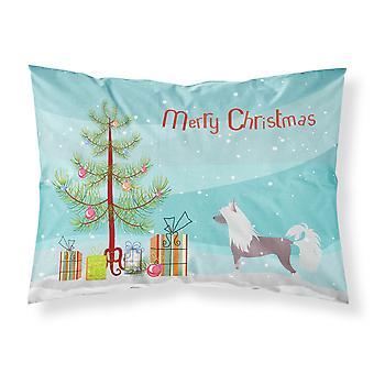 Caroline's Treasures Christmas Tree Chinese Crested Merry Fabric Standard Pillowcase Bb2961Pillowcase
