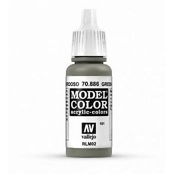 Vallejo Model Color 17ml Acrylic Paint - 886 Green Grey