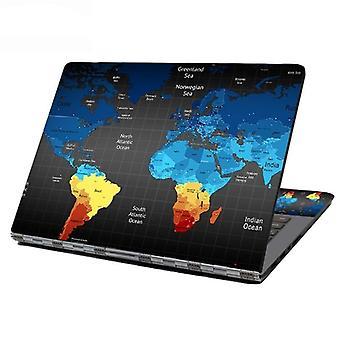 World Map Laptop Skin