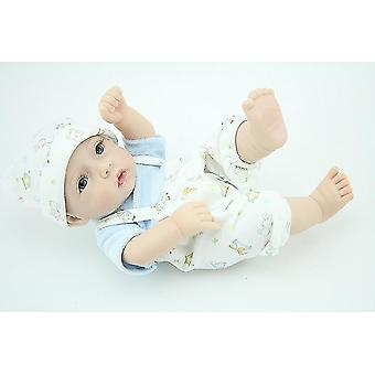 One Piece Jumpsuit Style Sweater Set With Cap For 11 Inch Newborn Baby Doll