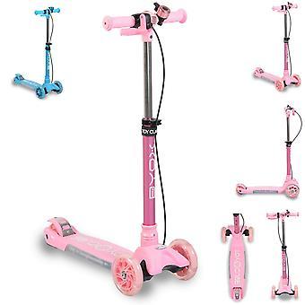 Cube de scooter pour enfants Byox, 3 roues, pliable, Bell Melody Front Light Handbrake