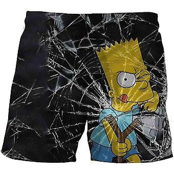 Funny Simpson Shorts Summer Teenagers Cartoon Pants Kids Baby 3d Clothes