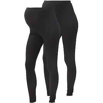 Mamalicious Womens Lea Org 2 Pack Leggings Activewear Tights Pants Bottoms