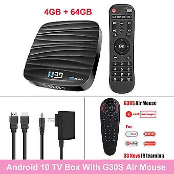 Android tv box os 10.0 4gb 32gb 64gb 4k h.265 media player 3d video 2.4g 5ghz dual wifi bluetooth hd smart tvbox set top box