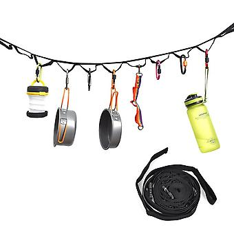 Multifunctional Outdoor Camping Tent Rope Lanyard Lamp Hanging Tool Hiking Clothesline With Hanging Rings Accessoires de camping