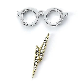 Harry Potter Lightning Bolt & Glasses Badge Set (Pack of 2)