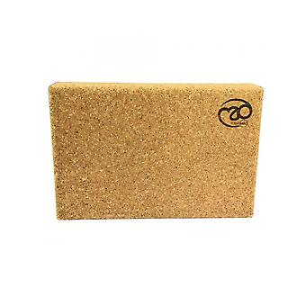 Fitness Mad Cork Block Yoga And Pilates Training Traditional Wooden Board