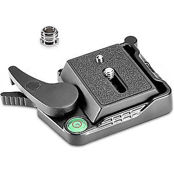 """Schwarz Aluminium Freigabe QR-Platten-Adapter mit 1/4""""-3/8"""" Schraubenundlegierung"""