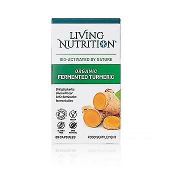 Living Nutrition Organic Fermented Turmeric Caps 60 (LN2013)
