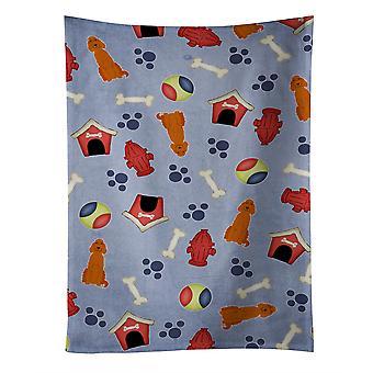 """Caroline'S Treasures Bb2677Ktwl Dog House Collection Irish Setter Kitchen Towel, 25"" X 15"", Multicolor"""