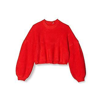 Amazon brand - find. Women's Crew neck T-shirt, Orange, 44, Label: M