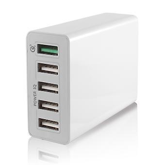 KSIX- 5 USB socket-smart charge- fast charger 10A USB 3.0