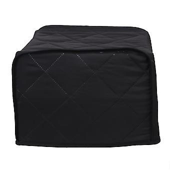 2 Rebanadas Cubierta tostadora Negra 29.2x20.3x20.3cm para Máquina de Pan y Horno