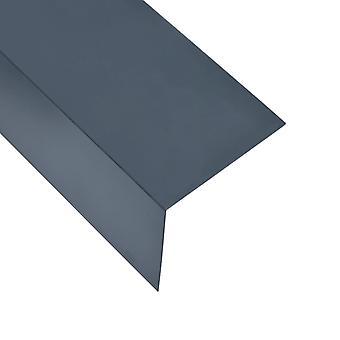 vidaXL 90° Hoekprofiel 5 St. L-Shape Aluminium Antraciet 170 cm 100x100 mm