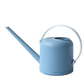سقي الفم الأزرق الطويل يمكن حديقة سقي البلاستيك يمكن أن سعة كبيرة سقي أدوات البستنة 1.7l az8035
