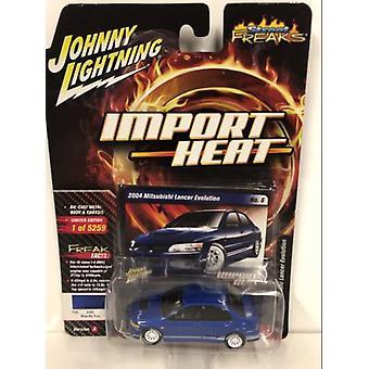 2004 Mitsubishi Lancer Evo Blue By You 1:64 Johnny Lightning JLSF010A