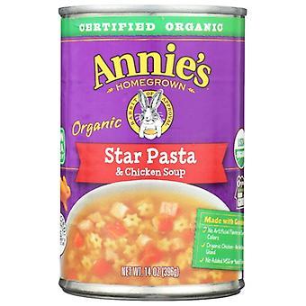 Annie's Homegrown Soup Star Pasta Chicken, Case of 8 X 14 Oz