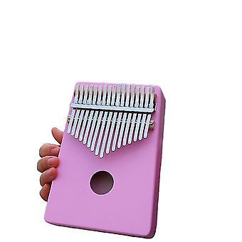 كاليمبا الإبهام البيانو 17 مفاتيح آلة موسيقية محمولة للأطفال الأرجواني