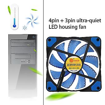 120mm Led Ultra Silent Computer Pc Case Fan 15 Leds 12v Einfach installiert
