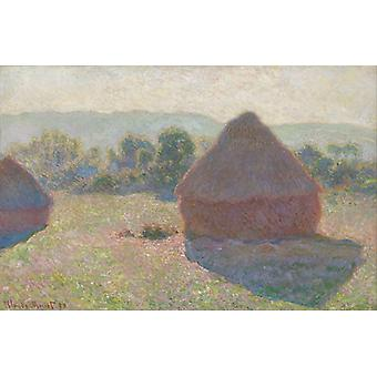 Haystacks, Claude Monet Art Reproduction.impressionism Style Modern Hd Art Print Poster,canvas Prints Wall Art For Office Home Decor Pictures