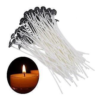 100 Stk 15CM weiß Diy Kerze Wick, Baumwolle gewebte Butter Lampe Docht