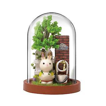 ドールハウスミニチュアDIY人形ハウス木造住宅おもちゃ子供の誕生日プレゼント
