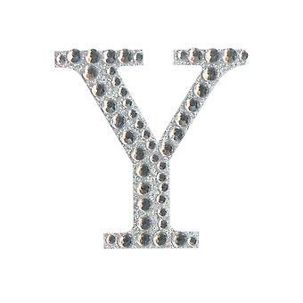 5cm Klar Selvklebende Diamante Bokstaver - Y | Diamante Edelstener Utsmykninger