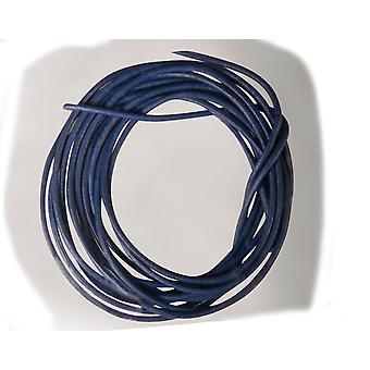 2 x 1m mørk blå skinnledning for voksne håndverk   Garnledning og elastisk for håndverk