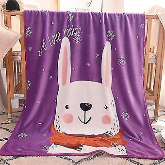 Babies Children Blanket 100x140cm Cartoon Cute Throw Kids Pet on Crib Plane Sofa Bed Crib