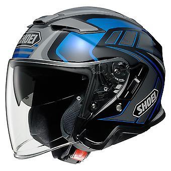 Shoei J-Cruise 2 Aglero TC2 Motorcykel Hjälm Blå