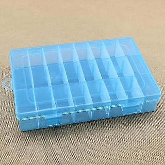 أصحاب المجوهرات الحياة الأساسية 24 صندوق تخزين المقصورة عملية قابل للتعديل حالة بلاستيكية