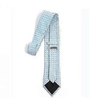 Mens Classic Skinny Woven Thin Necktie(Sky Blue)