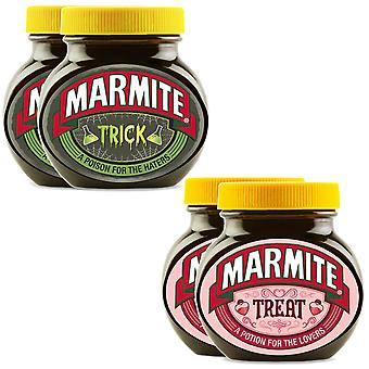 Marmite Sprid Halloween Gift, Trick and Treat Personalised Jar - Paket med 2 x 2 x 250g