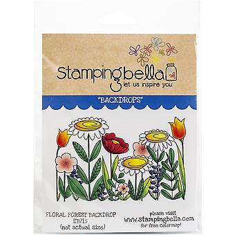 Stamping Bella Cling Stamps - Floral Forest Backdrop