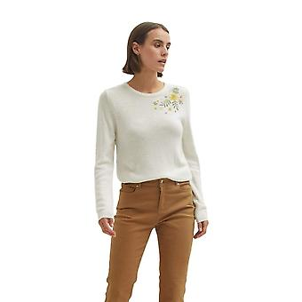 Shuuk Embroidered sweater with flower detail