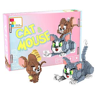 Tom And Jerry Concrete Block  For Creative Play Building Block Sets