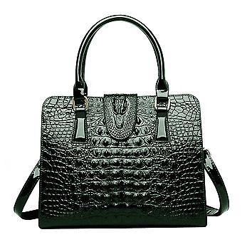 Leather Crocodile Grain Shoulder Handbags