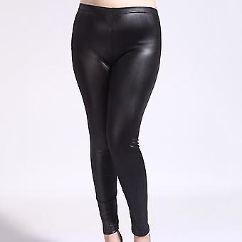 Mode Plus Size Vrouwen Broek Stretchy Slim Faux Lederen Broek Legging Skinny Jeggings Panty's Broek Voor Vrouwen