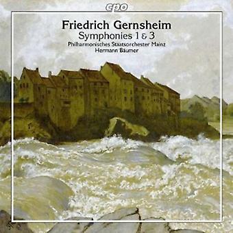 F el. Gernsheim - Friedrich Gernsheim: Importación de Estados Unidos sinfonías 1 & 3 [CD]
