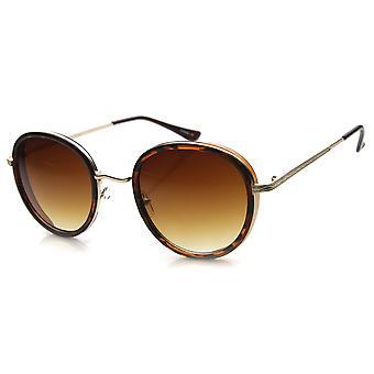 Unisex Round Sunglasses With UV400 Protected Gradient Lens