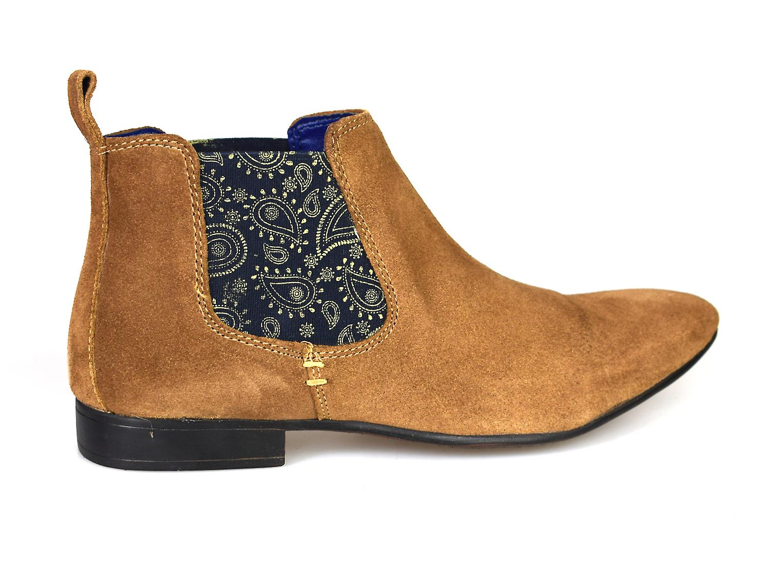 Silver Street Carnaby Tan Suede Mens Chelsea Boots