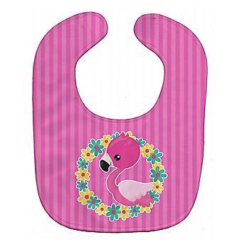Carolines trésors BB8768BIB Flamingo Flower Couronne Baby Bib