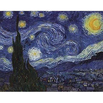 The Starry Night c1889 Poster Print by Vincent Van Gogh (14 x 11)