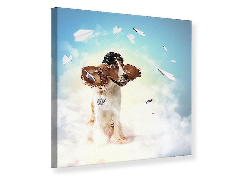Canvas Print vliegende hond