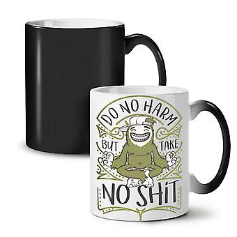 Harm Monkey Smile Funny NEW Black Colour Changing Tea Coffee Ceramic Mug 11 oz | Wellcoda