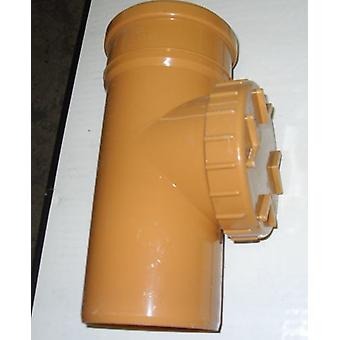 Sol Rod accès tuyau 110 mm - Push Fit - métro - brun - prise simple